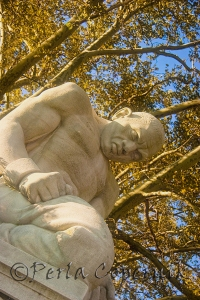 Helene Sardeau sculpture, the Slave, part of the Ellen Phillips Samuel Sculpture Garden at Fairmount Park in Philadelphia, Pennsylvania