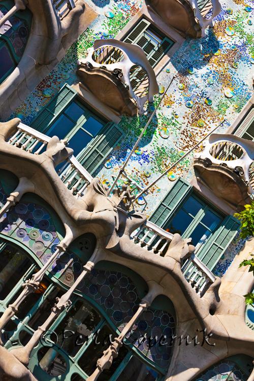 Casa Batlo Facade, Barcelona, Spain