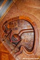 Mr. Batlló's studio with the mashroom-shaped chimney